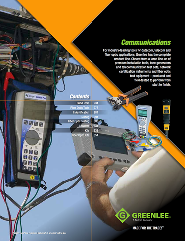 Greenlee Communications Products Catalog